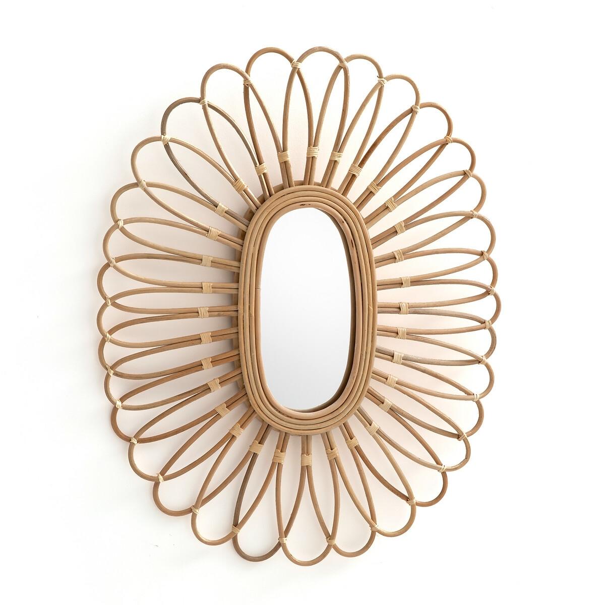 Зеркало LaRedoute Из ротанга овальной формы Nogu единый размер бежевый