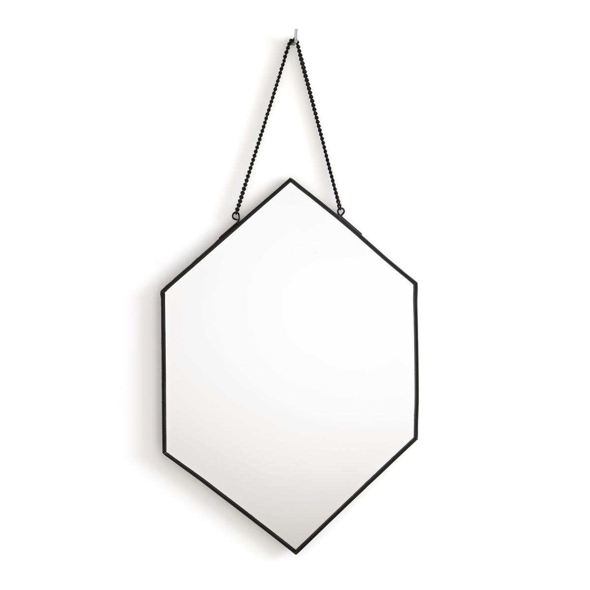 Зеркало La Redoute В форме шестиугольника Uyova единый размер черный статуэтка la redoute в форме лица из пластика waraji единый размер черный
