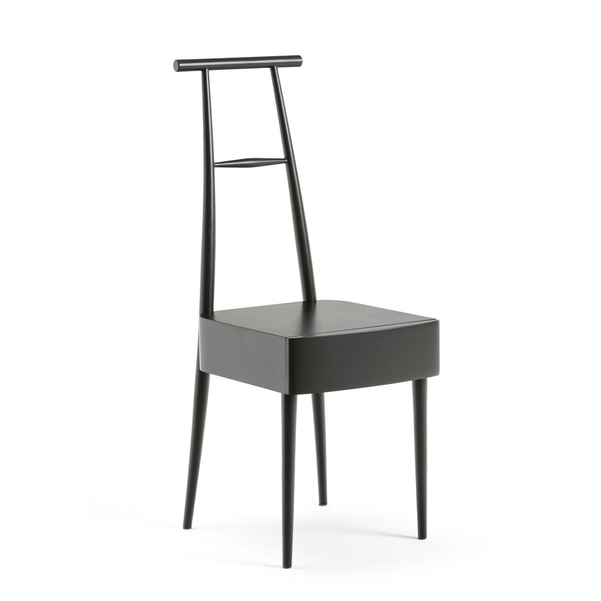 Столик прикроватный из массива сосны, Karab?Прикроватный столик Karab?. Оригинальный и красивый столик-стул послужит не только в этом качестве, но также как напольная вешалка.Описание : - Из массива сосны с полиуретановой и нитроцеллюлозной отделкой- 1 ящик - Поставляется в разобранном виде, инструкция по сборке прилагаетсяРазмеры : - Ш36 x В96,3 x Г44,3 см- Полезные размеры ящика : Ш29 x В5,6 x Г27 смРазмеры и вес упаковки: - Ш105 x В19 x Г44 см, 7,7 кг<br><br>Цвет: черный