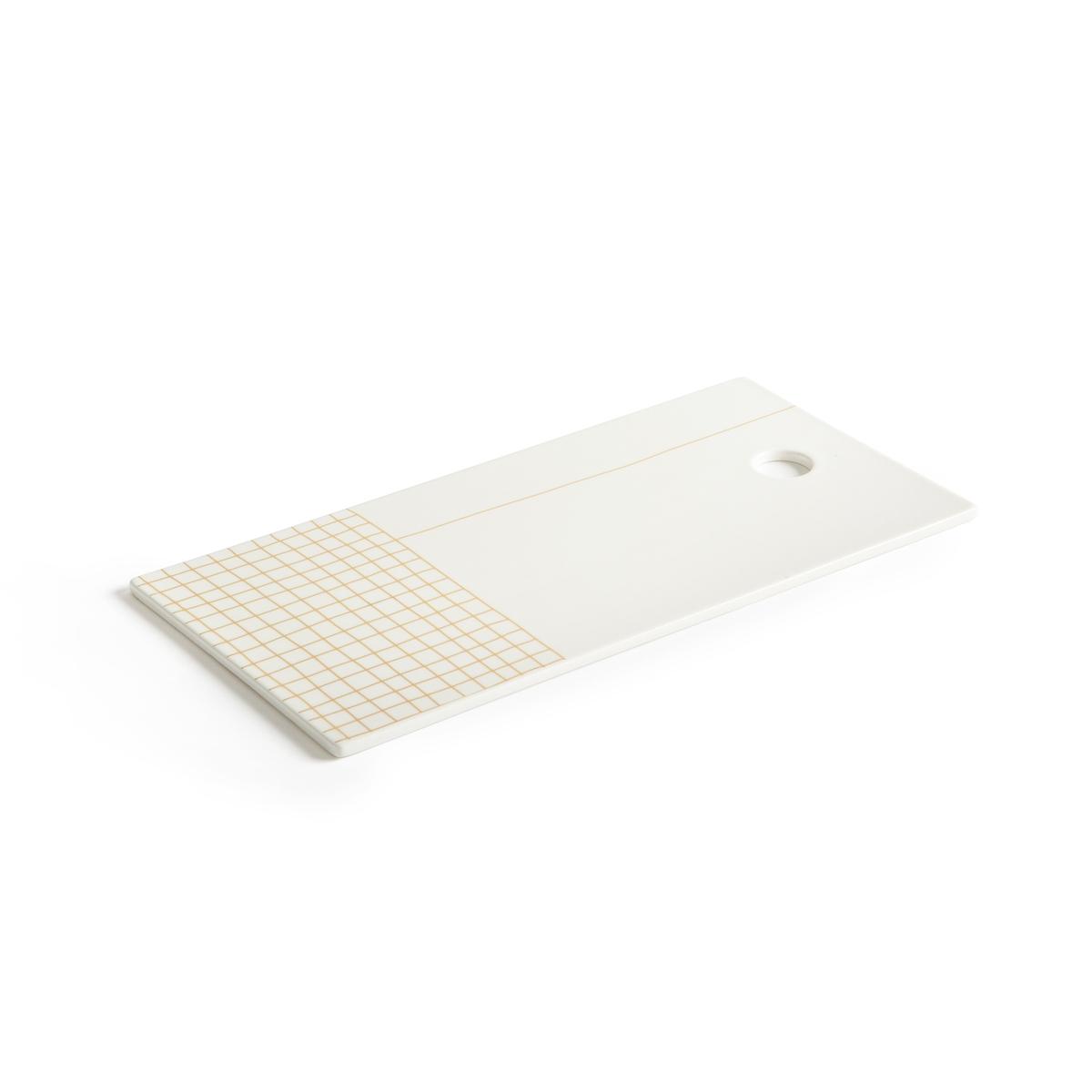 Доска La Redoute Разделочная из керамики Acao единый размер белый цена