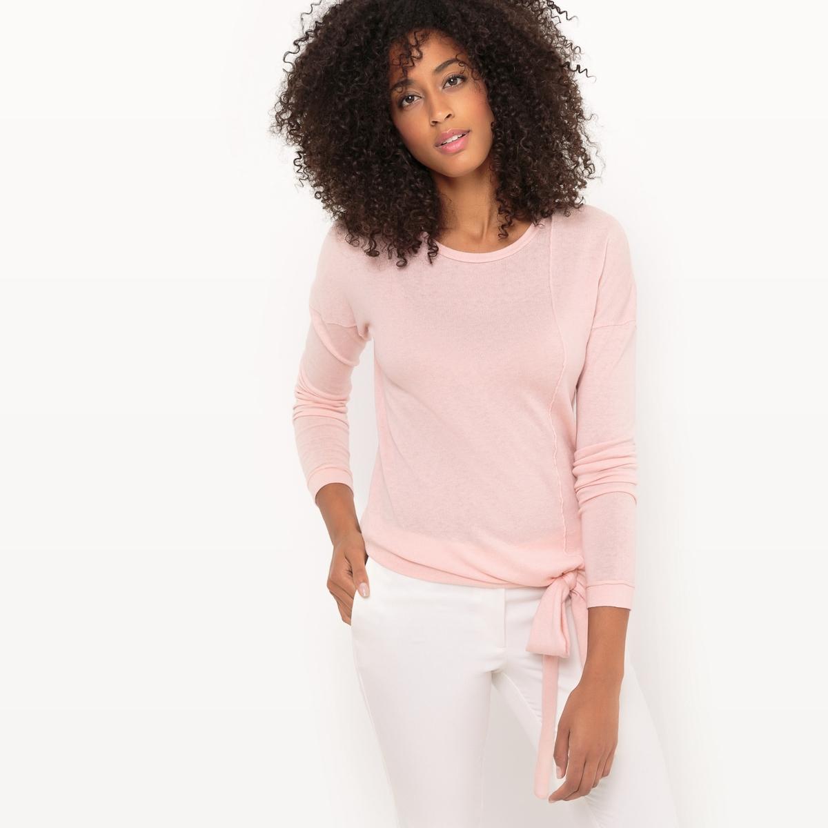 Sweter wiązany z okrągłym dekoltem