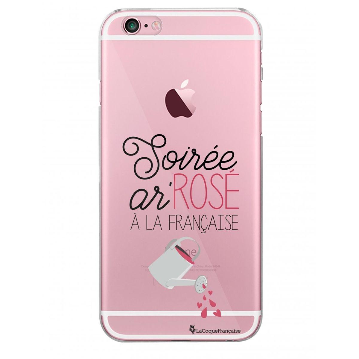 Coque iPhone 6 iPhone 6S rigide transparente, Soirée ar'rosé à la française, La Coque Francaise®