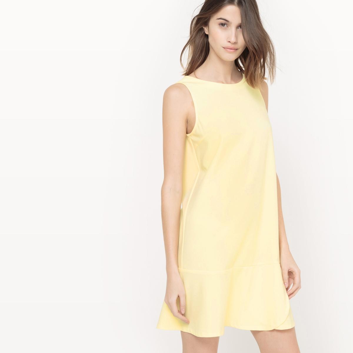 Платье без рукавов, с декольте сзади