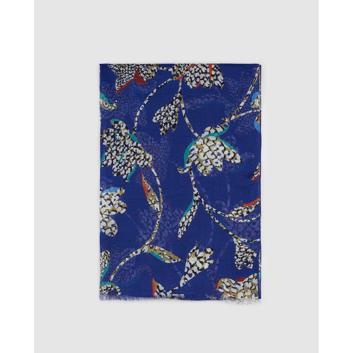 Foulard à imprimé floral et animal