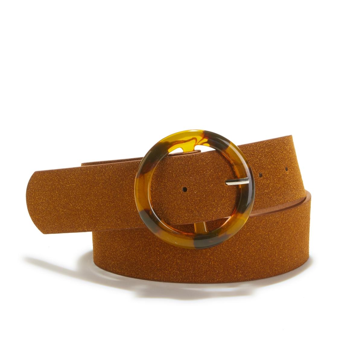 Cinturón ancho con hebilla estilo carey