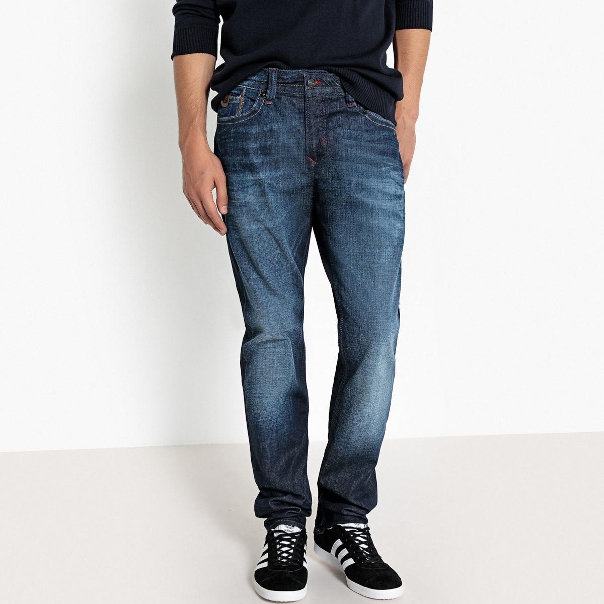 Джинсы прямые с рваным эффектом Broz джинсы прямые gen