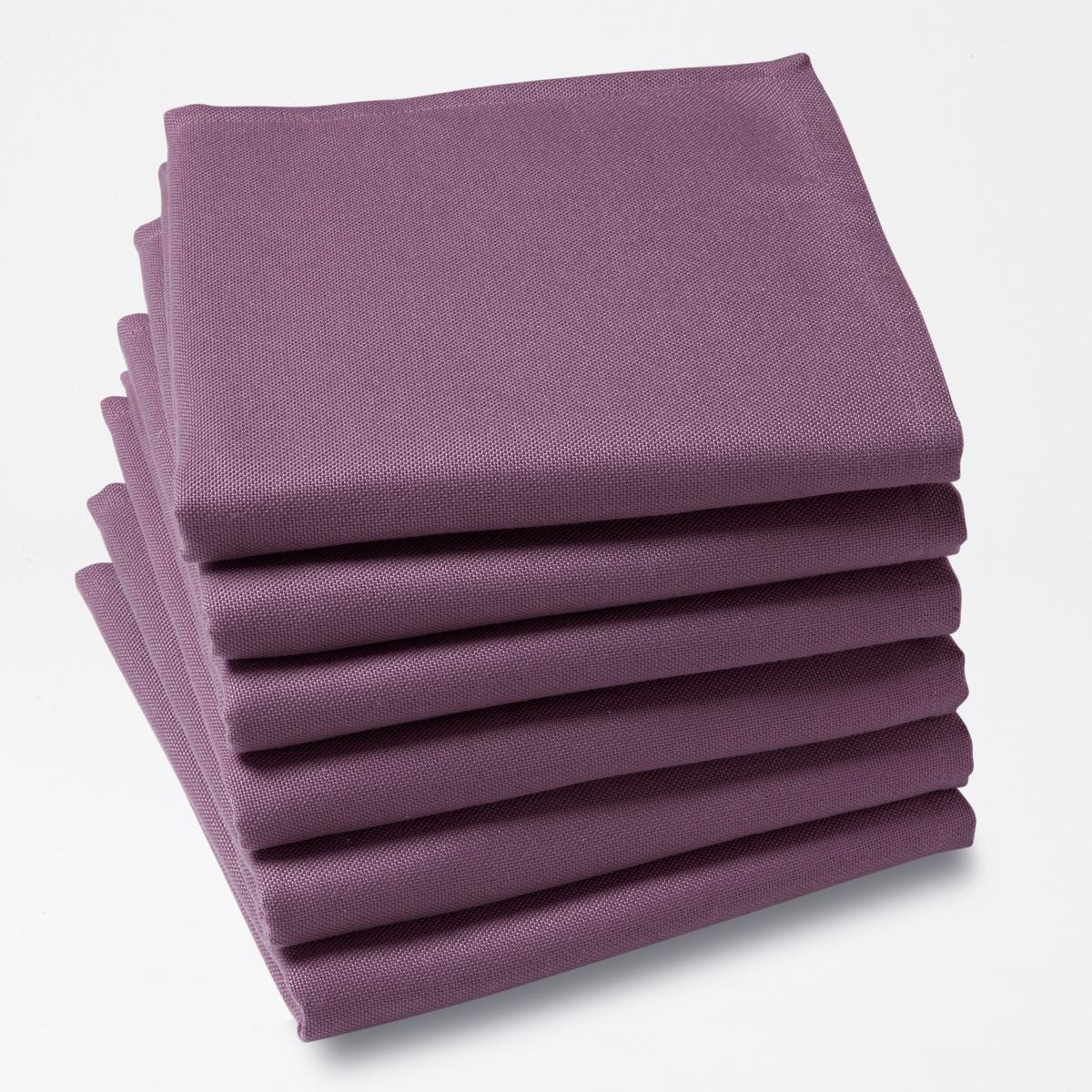 6 салфетокХарактеристики столовых салфеток:100% полиэстера.Покрытие от пятен.Подшитые края. Стирать при 40°.Размер. 45 x 45 см.Знак Oeko-Tex® гарантирует, что товары протестированы и сертифицированы, не содержат вредных веществ, которые могли бы нанести вред здоровью.<br><br>Цвет: Серо-синий,ярко-фиолетовый