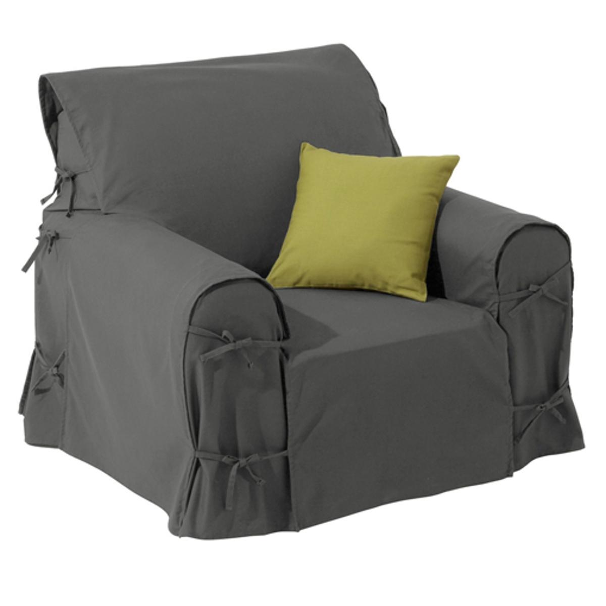 Чехол для креслаХарактеристики чехла для кресла:- Практичный чехол для кресла регулируется завязками. - Красивая плотная ткань из 100% хлопка (220 г/м?).- Обработка против пятен.- Простой уход: стирка при 40°, превосходная стойкость цвета.Размеры чехла для кресла:- Общая высота: 102 см.- Максимальная ширина: 80 см.- Глубина сидения: 60 см.- Высота подлокотников: 66 см.Качество VALEUR S?RE. Производство осуществляется с учетом стандартов по защите окружающей среды и здоровья человека, что подтверждено сертификатом Oeko-tex®.<br><br>Цвет: антрацит,облачно-серый,рубиново-красный<br>Размер: единый размер