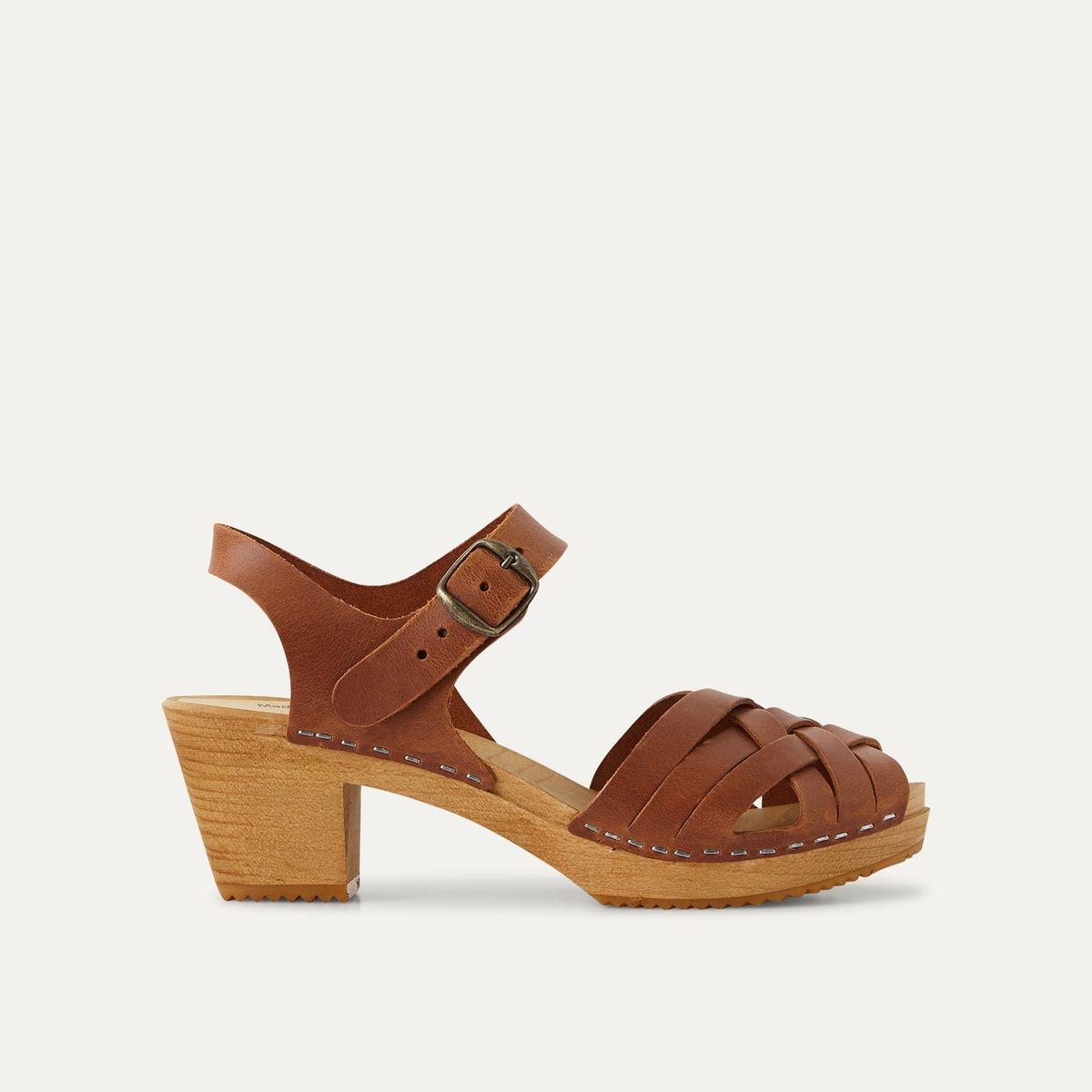 Sandales cuir à bout tressé