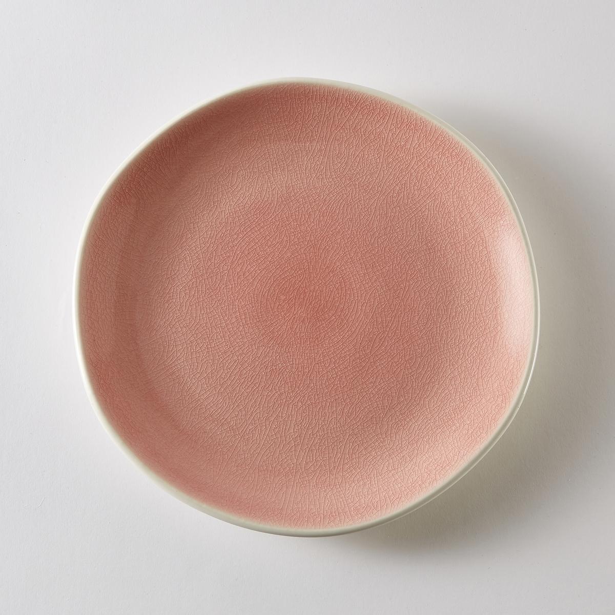 4 тарелки десертные из фаянса, Gogain,Характеристики 4 тарелок десертных из фаянса Gogain  :- Фаянс с матовой отделкой снаружи, внутри покрытие с кракелюрами контрастного цвета .- Диаметр 22 см  .- Можно использовать в посудомоечных машинах и микроволновых печах.Найдите компоект посуды Gogain на нашем сайте .<br><br>Цвет: зеленый,серо-синий,темно-розовый<br>Размер: единый размер