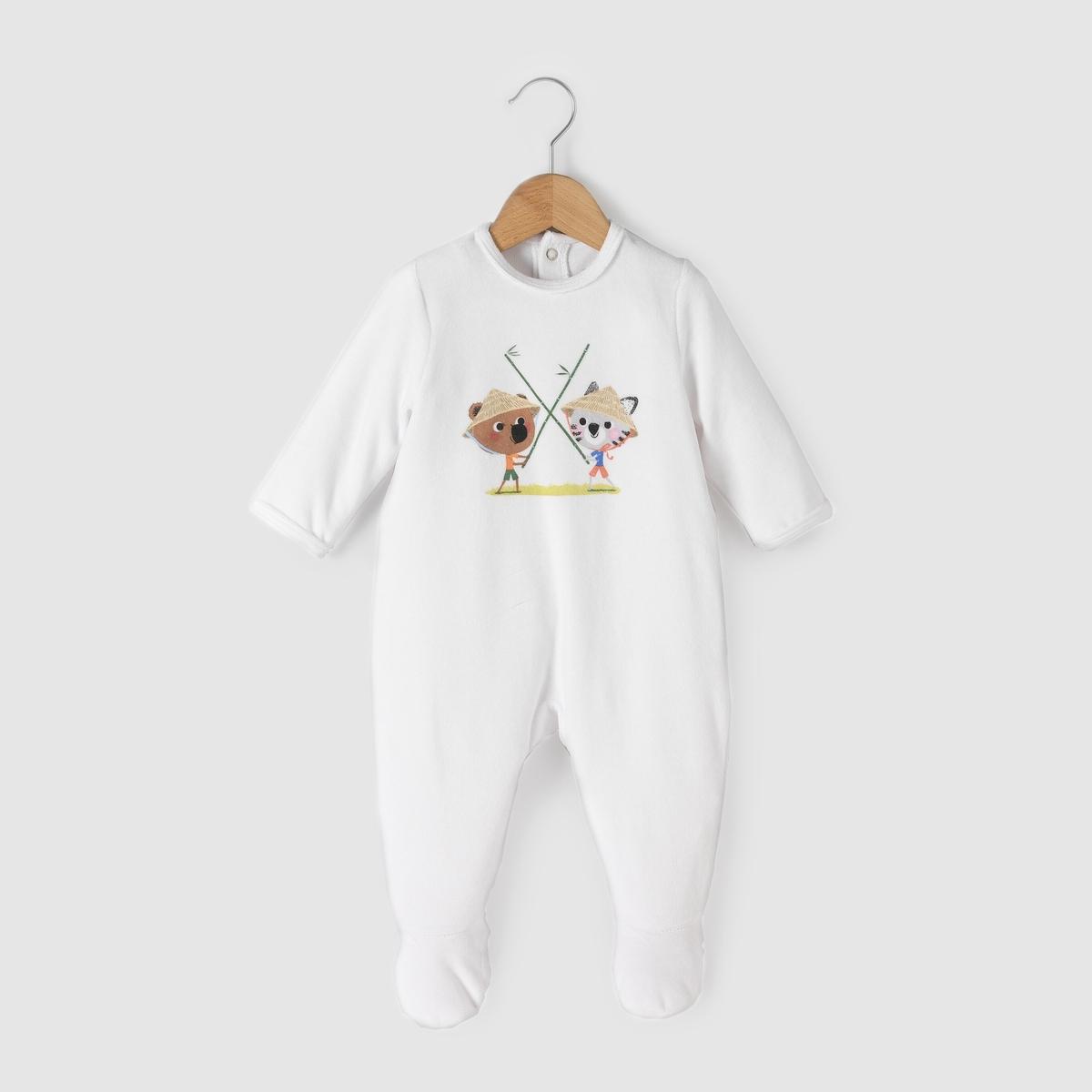 Пижама MOUK велюровая, 0 мес. - 3 лет