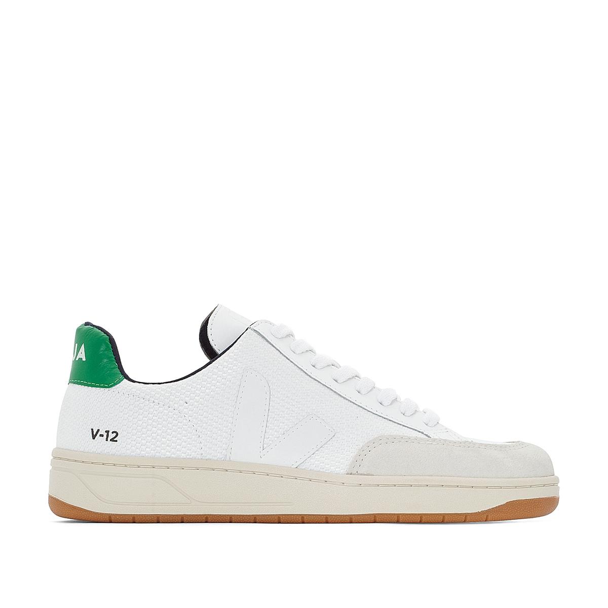 Кеды V-12Детали  •  Спортивный стиль •  Плоский каблук •  Застежка : шнуровкаСостав и уход  •  Верх 100% синтетический материал •  Подкладка 100% хлопок •  Стелька 100% хлопок  •  Подошва 100% каучук<br><br>Цвет: белый/ зеленый