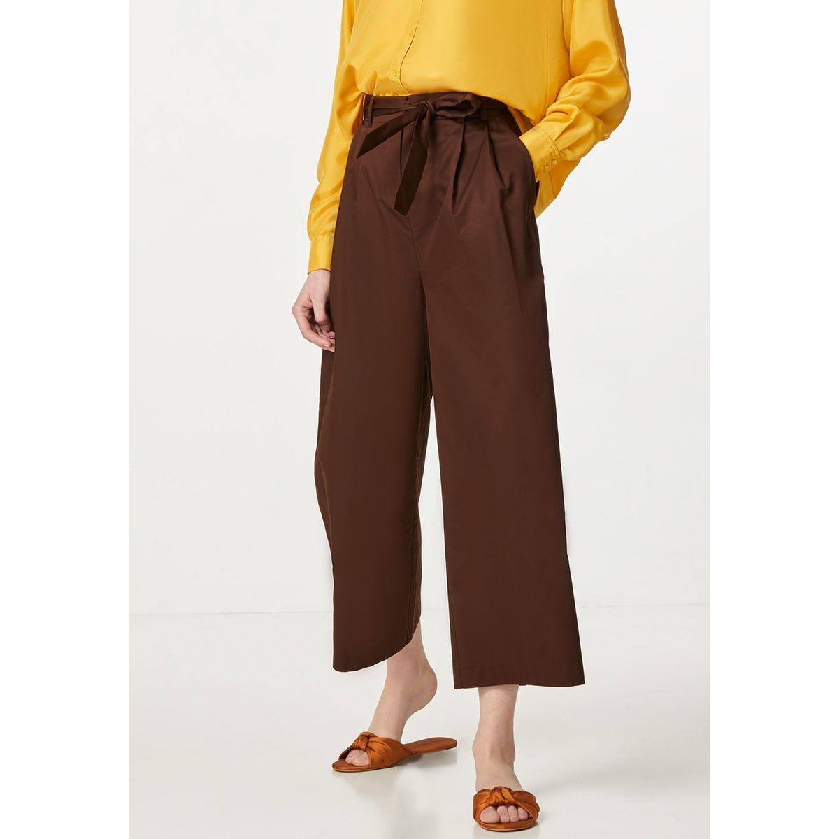 Pantalon palazzo à ceinture à nouer