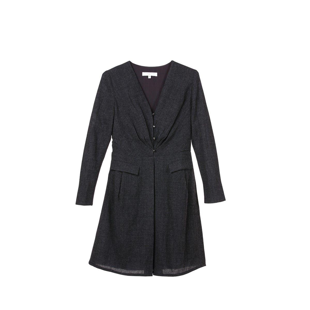 Robe habillée manche longue chic et moderne en Pure Laine