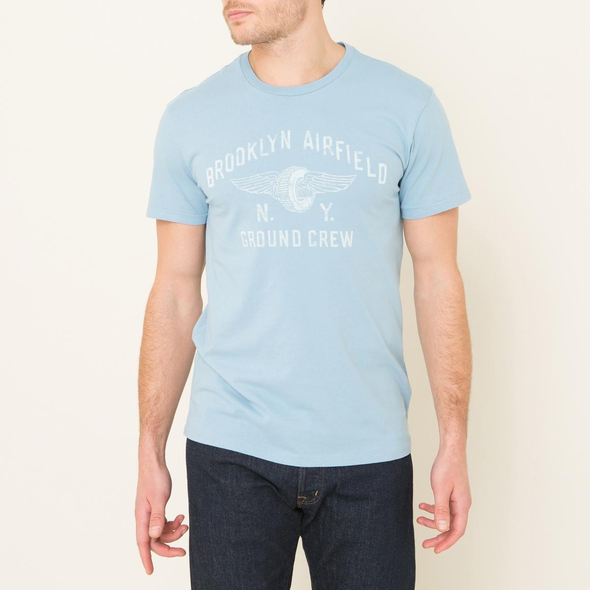 Футболка с рисункомСостав и описание Материал : 100% хлопокМарка : Denim and Supply Ralph Lauren<br><br>Цвет: синий
