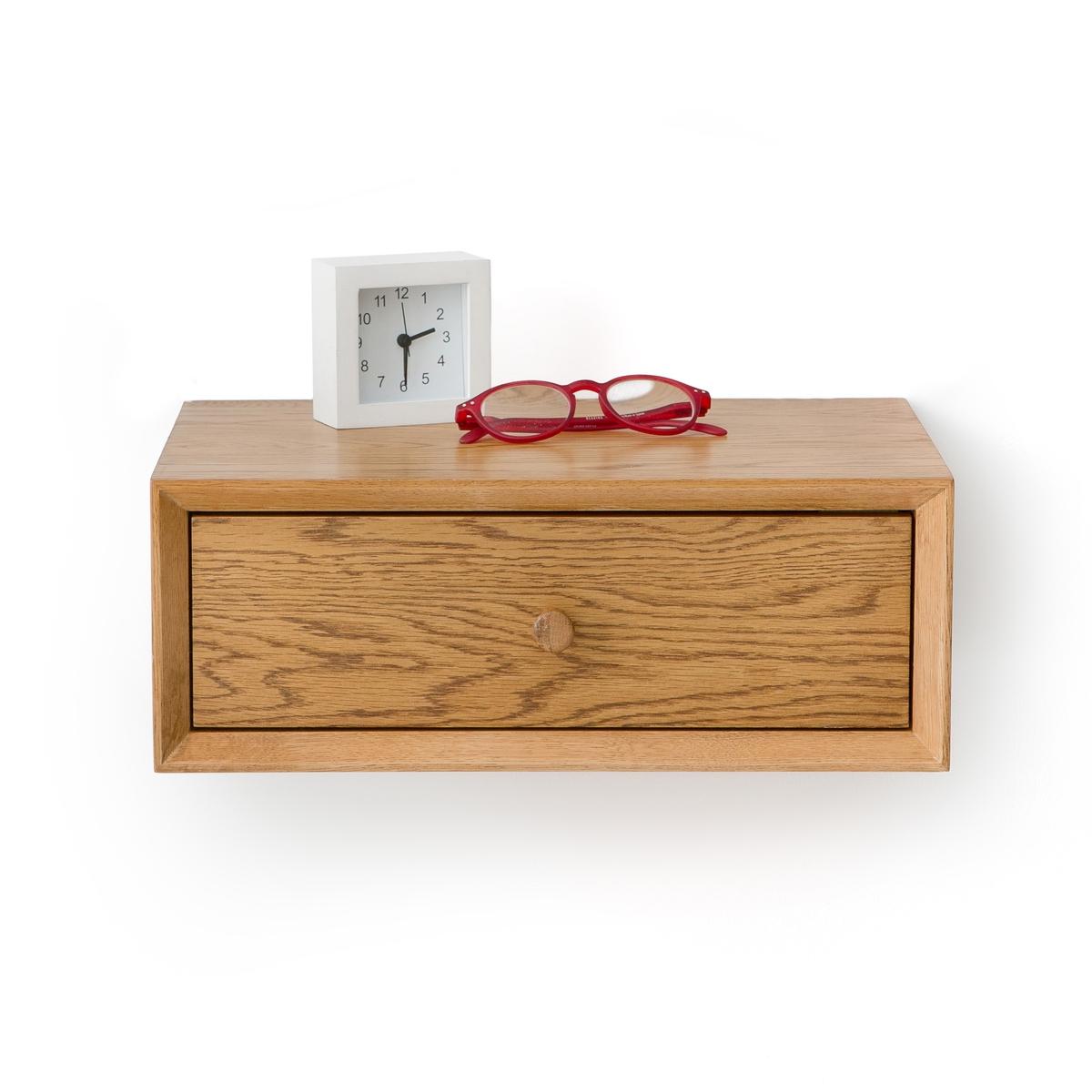 Тумбочка La Redoute Прикроватная настенная с одним ящиком QUILDA единый размер каштановый
