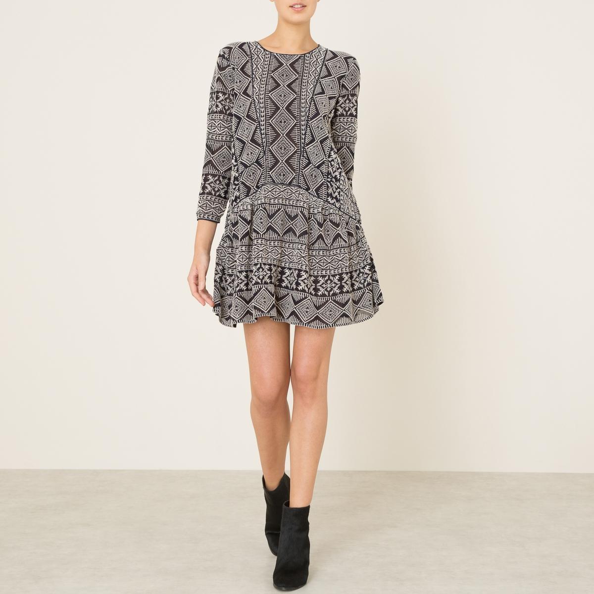 Платье MARAСостав и описание :Материал : Струящаяся ткань 100% вискозаДлина : 87 смМарка : BA&amp;SH<br><br>Цвет: темно-синий<br>Размер: S