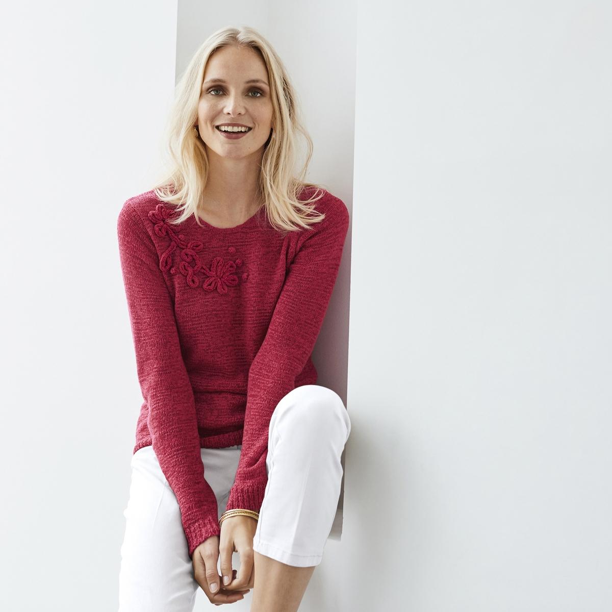 Imagen principal de producto de Jersey con cuello redondo y punto canalé - Anne weyburn