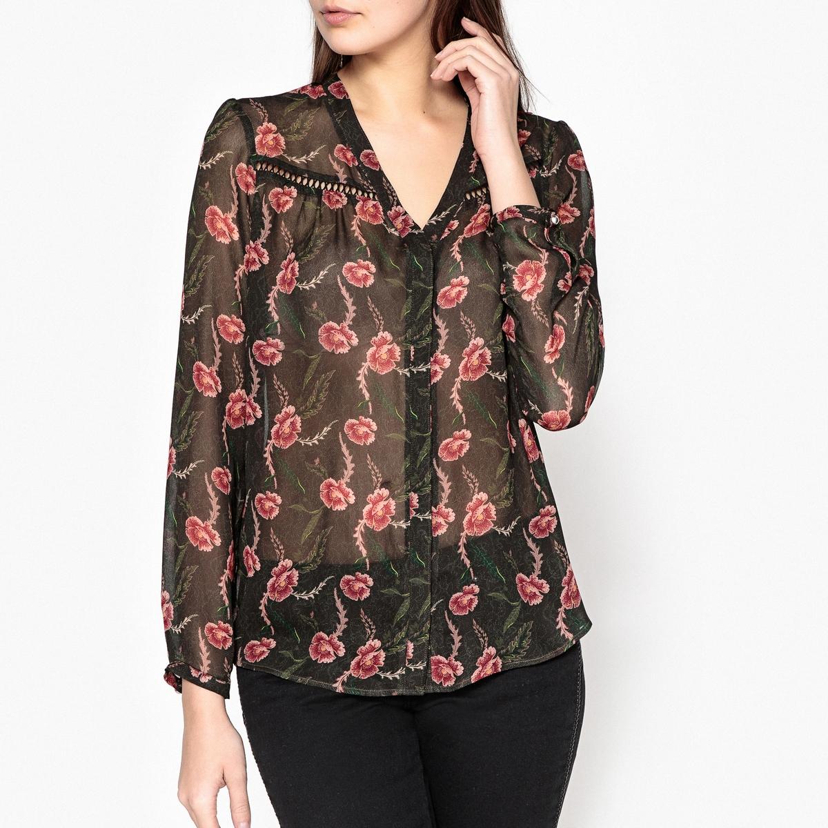 Рубашка из вуали с рисунком IKKS