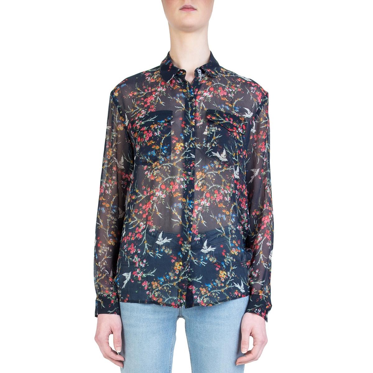 Рубашка из шелка с рисунком