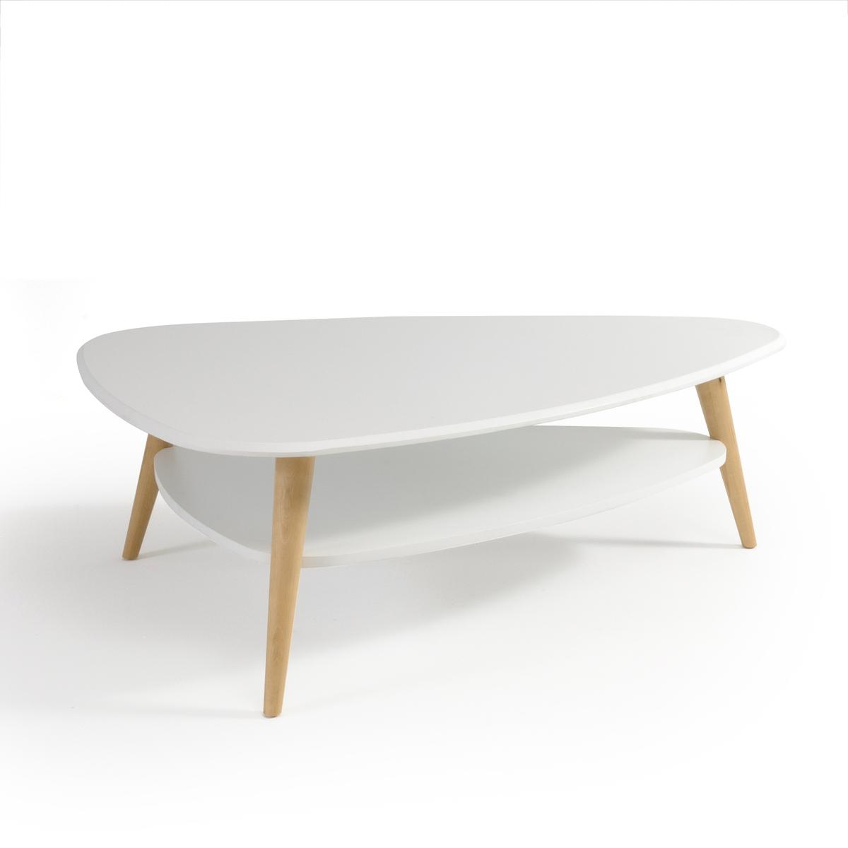 Столик La Redoute Журнальный с столешницами в винтажном стиле JIMI единый размер белый стол la redoute обеденный с удлинением персон jimi 10 персоны белый