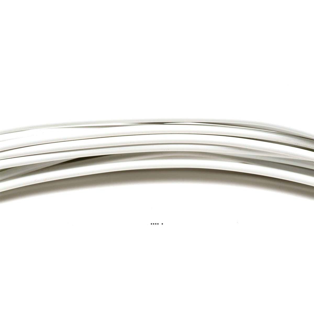 Fil aluminium Blanc souple D 2 mm L 12 metres decoration - choisissez votre coloris: Blanc