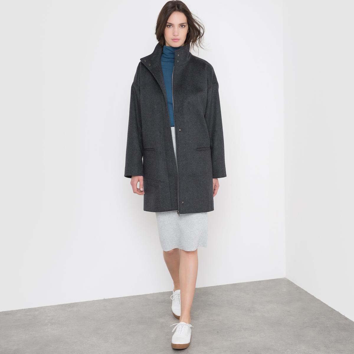 Пальто свободного покроя, 50% шерсти