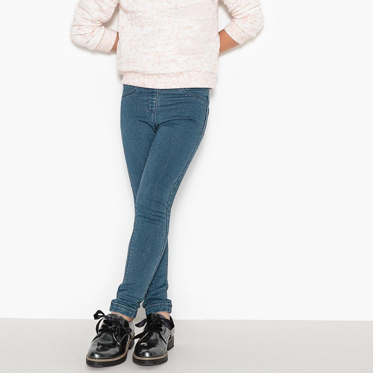 Фото - Джеггинсы LaRedoute Из денима 3-12 лет 8 лет - 126 см синий юбка laredoute прямая из легкого денима 3 12 лет 3 года 94 см синий