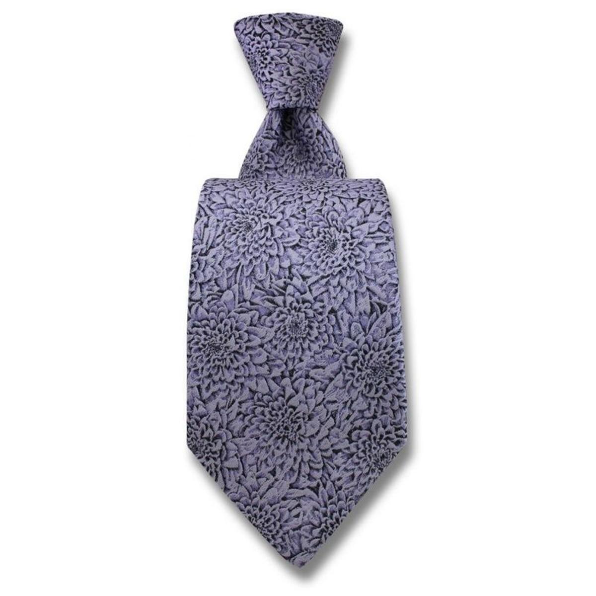 Cravate Chrysanthèmes. Soie Fantaisie