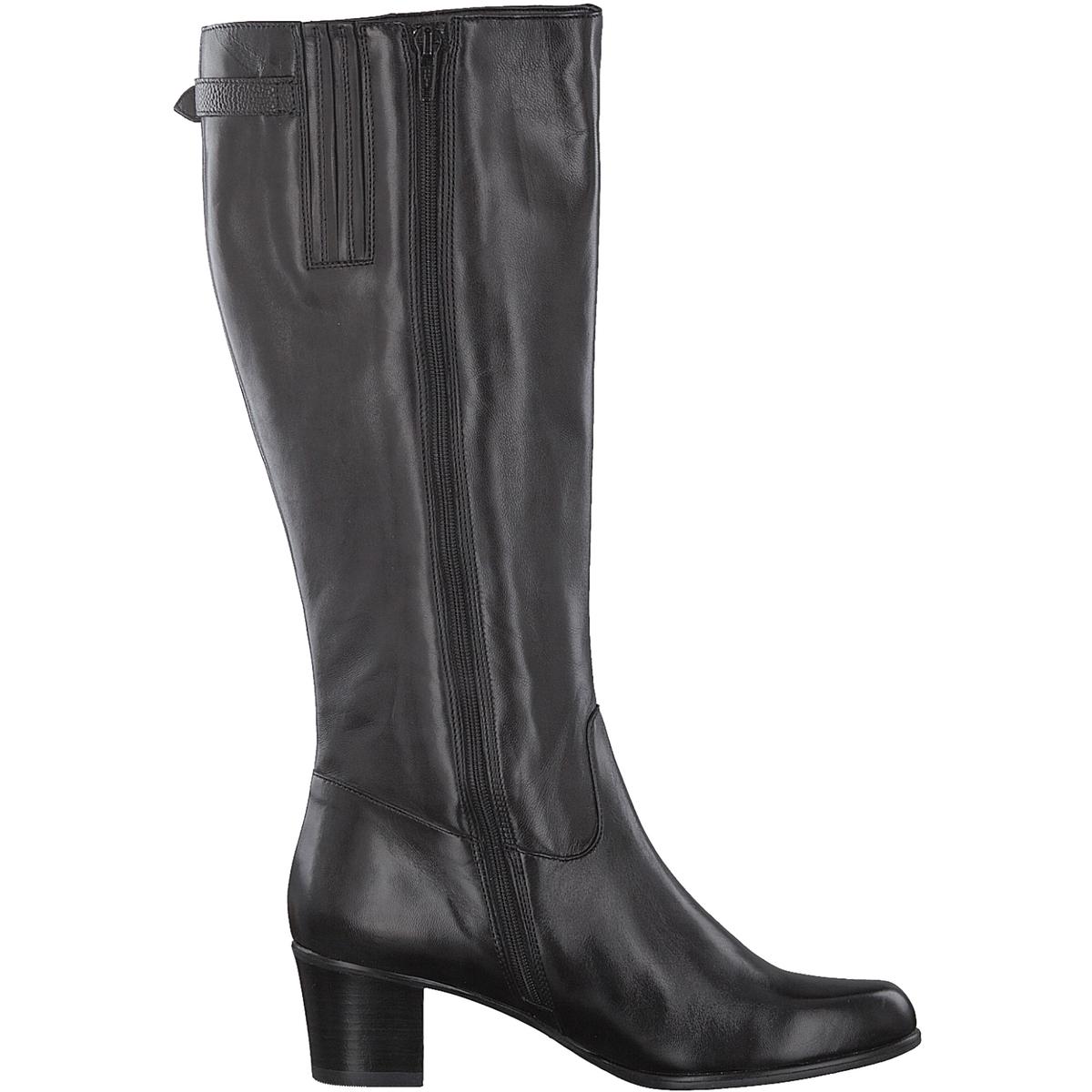Сапоги кожаные WeltyДетали •  Классическая модель •  Широкий каблук •  Круглый мысок •  Застежка : на молнию •  Высота голенища : 37 см для размера 37 •  Высота каблука : 5 смСостав и уход •  Верх 100% кожа •  Подкладка 100% текстиль •  Стелька 50% синтетического материала, 50% текстиля<br><br>Цвет: черный<br>Размер: 38.39.40.37