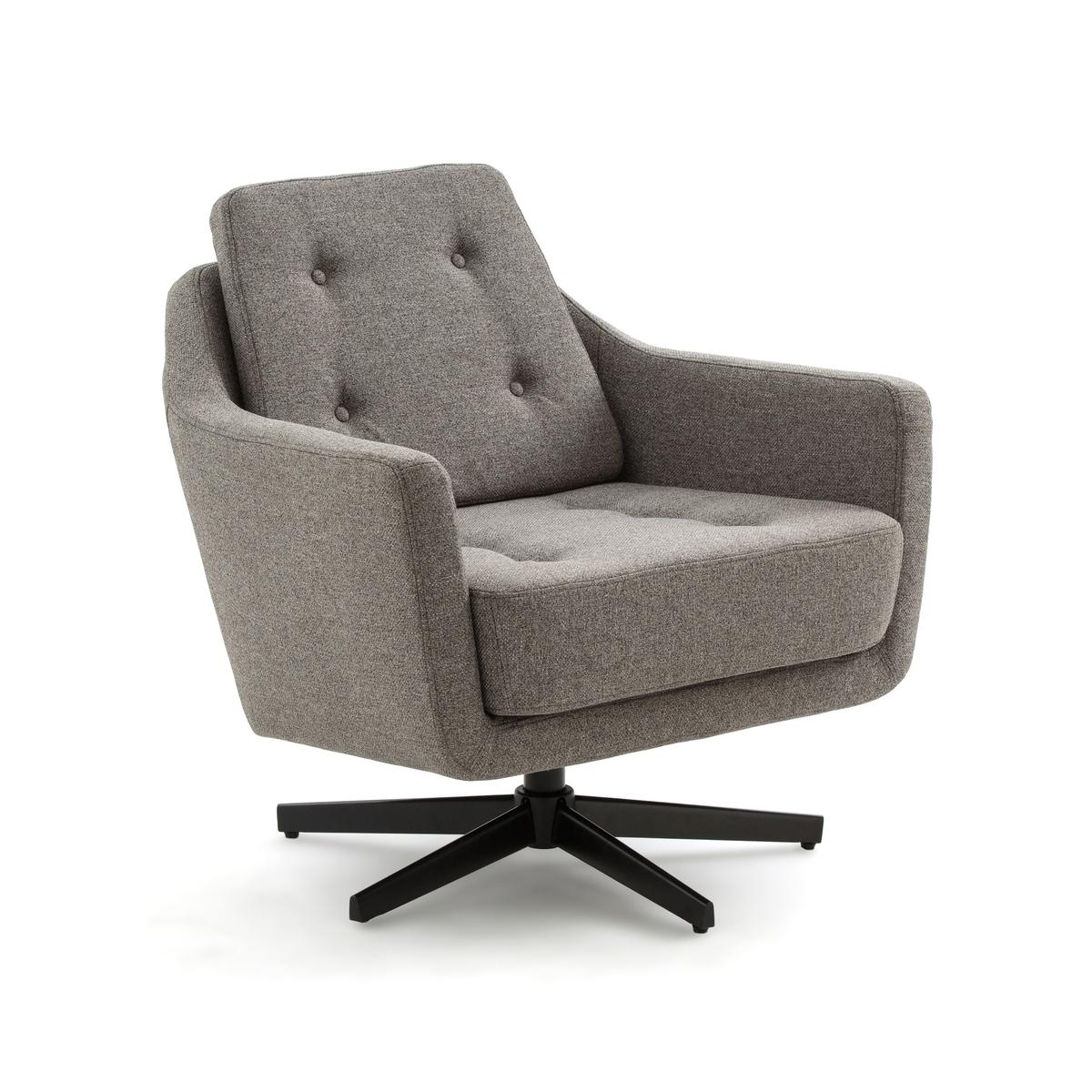 Кресло LaRedoute Вращающееся SOKUT единый размер серый