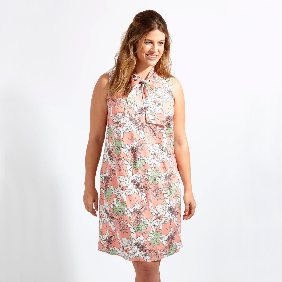 ПлатьеПлатье - KOKO BY KOKO. Симпатичное платье с декольте спереди и вырезом с завязками, идеальное для лета . 100% полиэстер<br><br>Цвет: набивной рисунок<br>Размер: 44 (FR) - 50 (RUS).54/56 (FR) - 60/62 (RUS).46 (FR) - 52 (RUS).48 (FR) - 54 (RUS)
