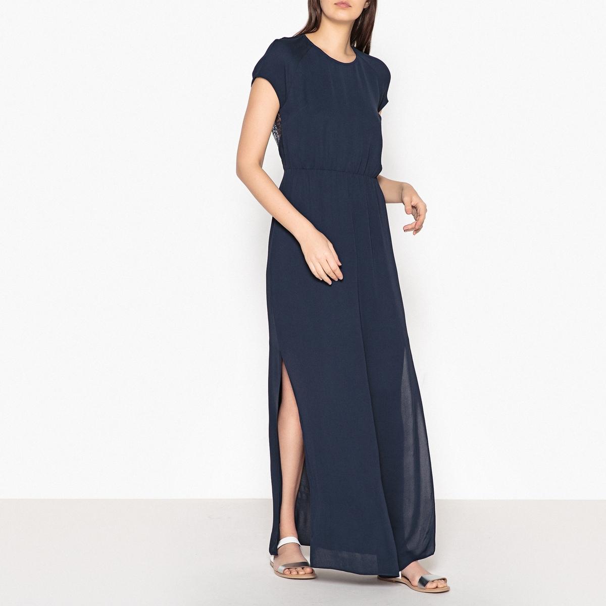 Платье коктейльное длинное с кружевной спинкой REYA коктейльное платье с драпировкой bebe платья и сарафаны коктейльные