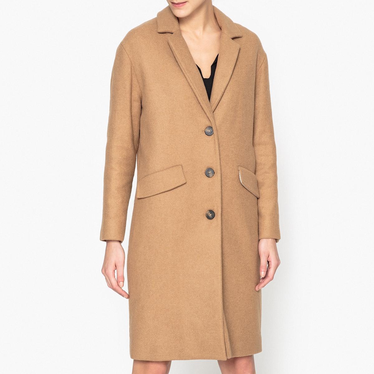 Драповое длинное пальто из шерсти CLAUDIUS пальто драповое 30% шерсти
