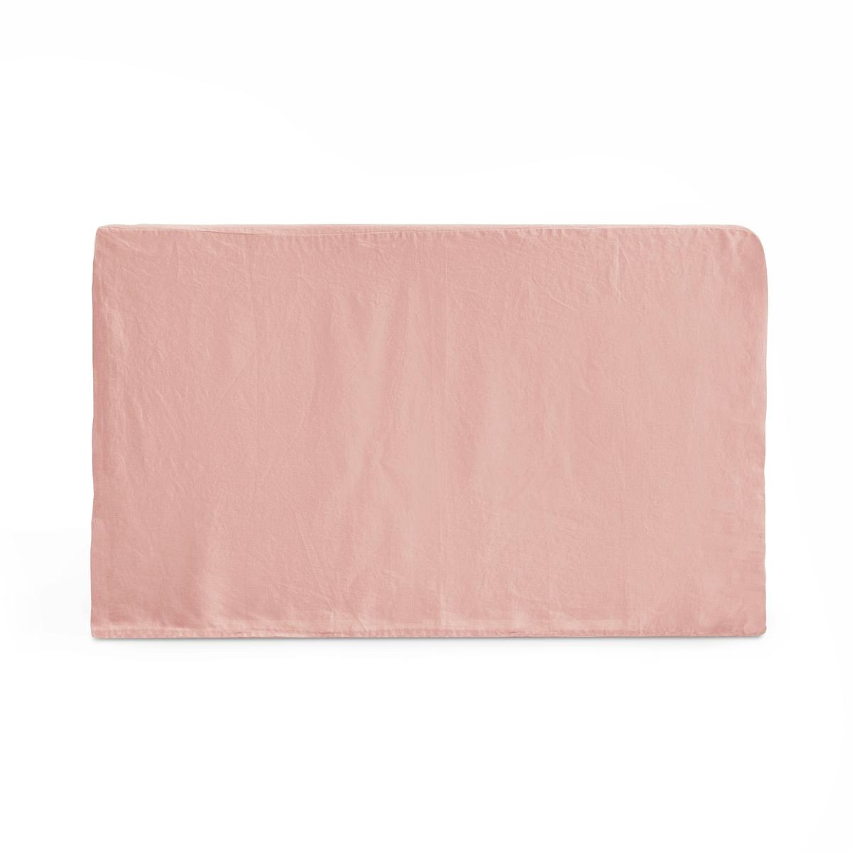 Чехол LaRedoute На изголовье кровати из осветленного льна ABELLA 90 x 85 см розовый