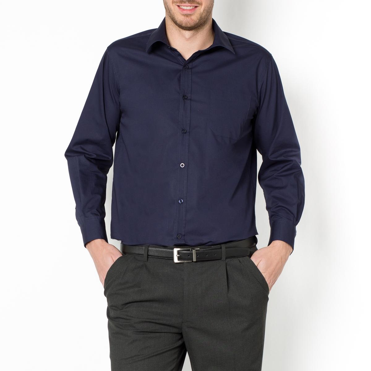 Рубашка из поплина с длинными рукавами, рост 2Рост 2 (при росте 177-187 см) : - длина рубашки спереди : 85 см для размера 41/42 и 92 см для размера 55/56.- длина рукавов : 65 смДанная модель представлена также для роста 1 (при росте до 176 см) и 3 (при росте от 187 см) и с короткими рукавами.<br><br>Цвет: белый,голубой,синий морской,черный<br>Размер: 47/48.45/46.43/44.43/44.43/44.41/42.47/48.53/54.51/52.45/46