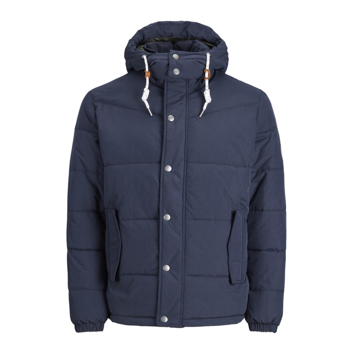 Куртка короткая с капюшоном, зимняя модель JACK & JONES