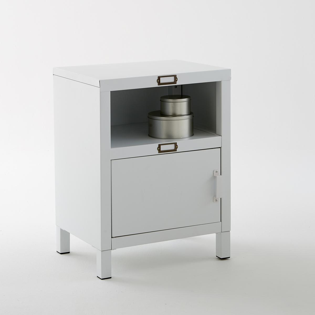 Шкаф с 1 дверкой из стали, белого матового цвета, Hiba mymilly с 1 дверкой 175 см пони