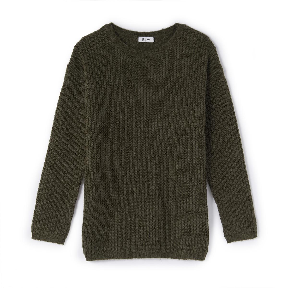 Пуловер свободного покроя из трикотажа под мохер, 10-16 лет