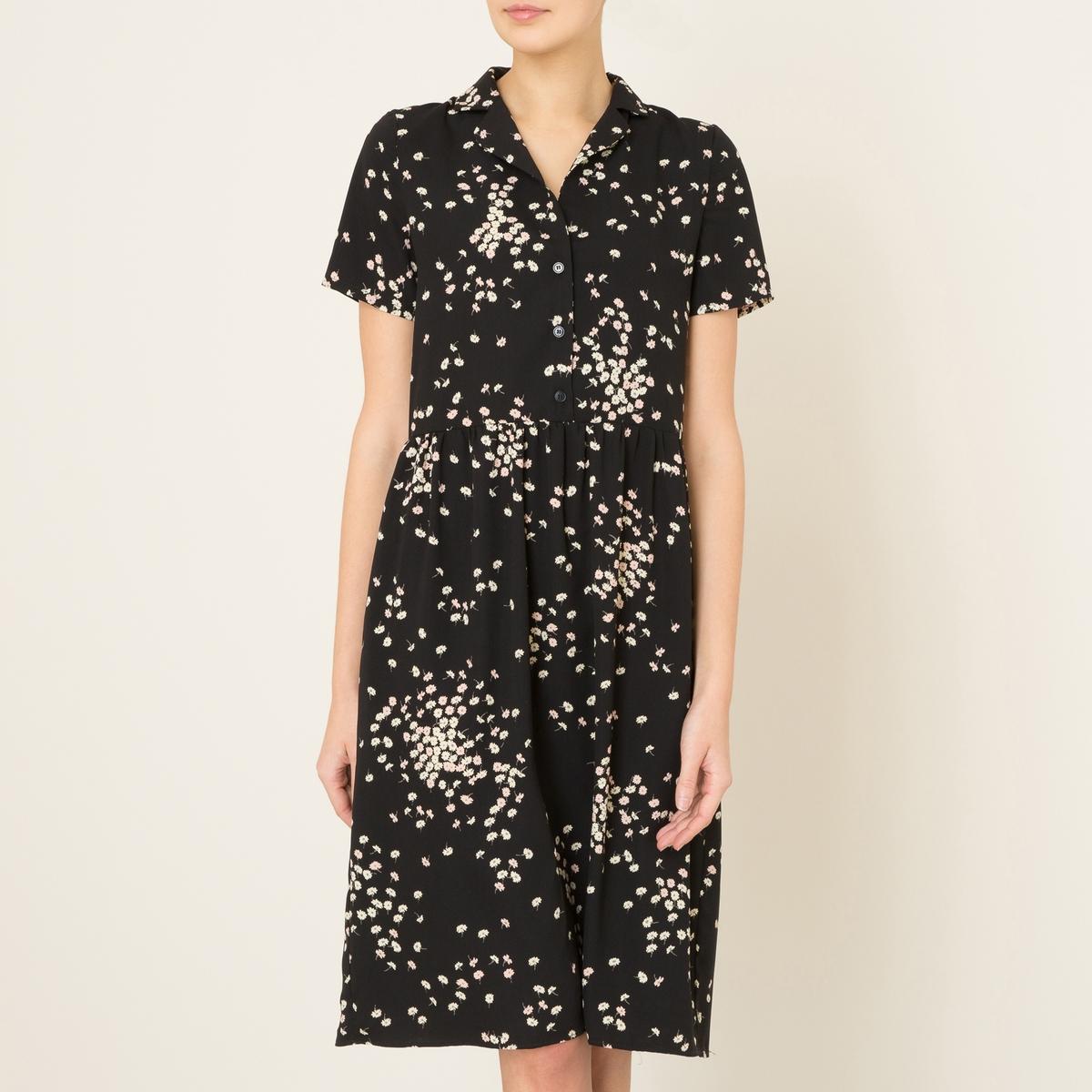 Платье ABBESSEСостав и описание Материал : 100% полиэстерДлина : ок.100 см. (для размера S)Марка : LA BRAND BOUTIQUE<br><br>Цвет: рисунок черный