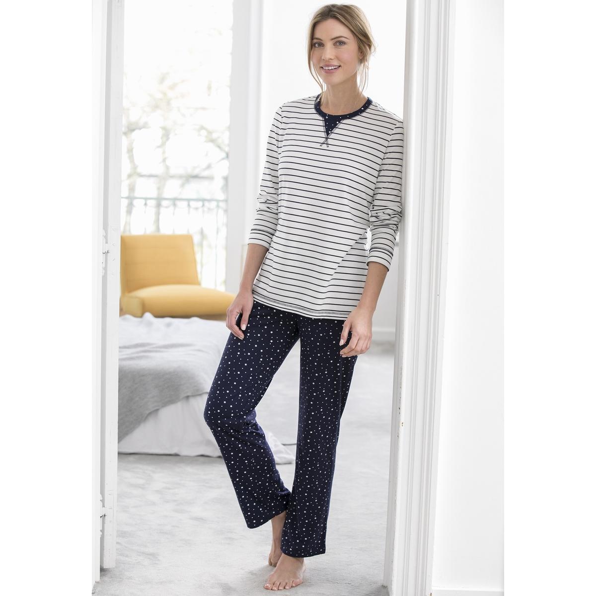 Пижама с длинными рукавами thermolactyl® пижамы nicoletta пижама женская