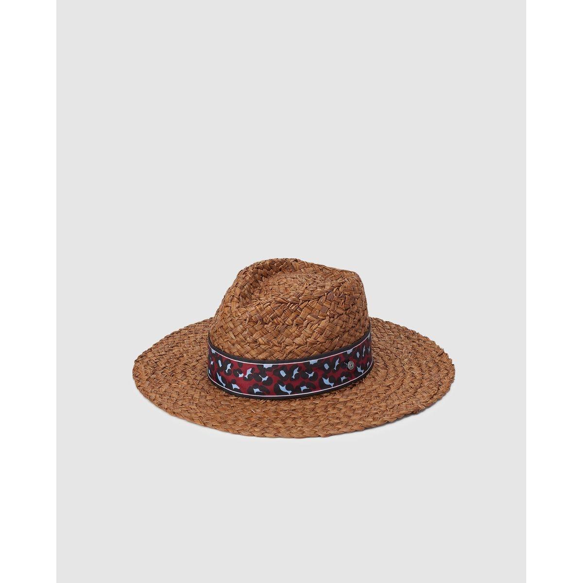 Chapeau indiana en paille  avec ruban