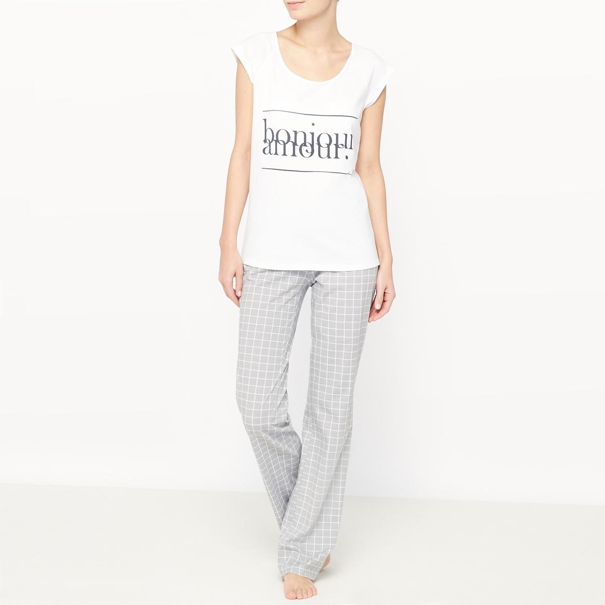 Пижама из хлопка с короткими рукавами