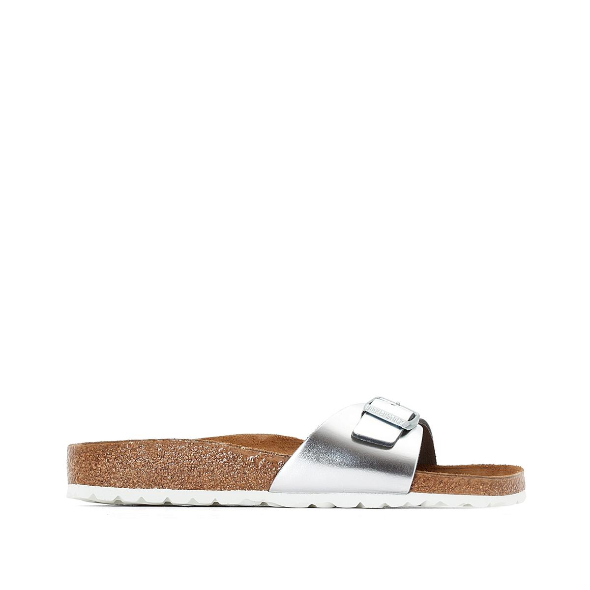 BIRKENSTOCK Туфли без задника с металлическим блеском Madrid