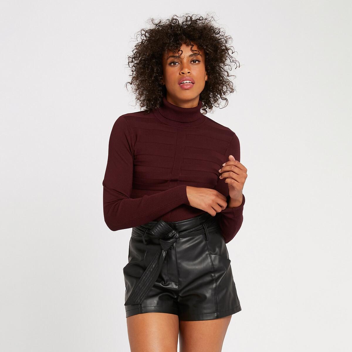 Пуловер La Redoute Из тонкого трикотажа L красный пуловер la redoute из тонкого трикотажа со шнуровкой l бежевый
