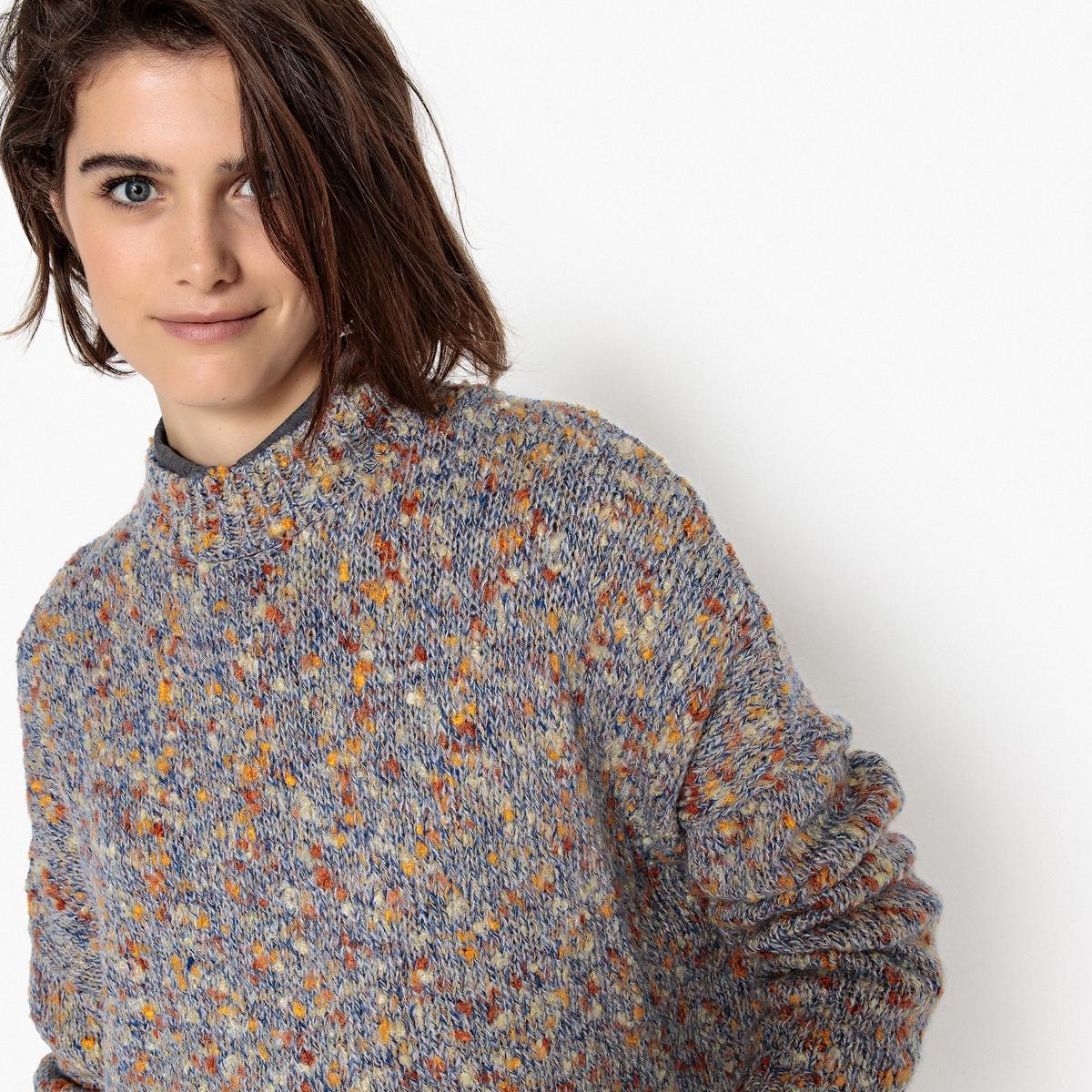 Пуловер из трикотажа мулине пуловер из мохера