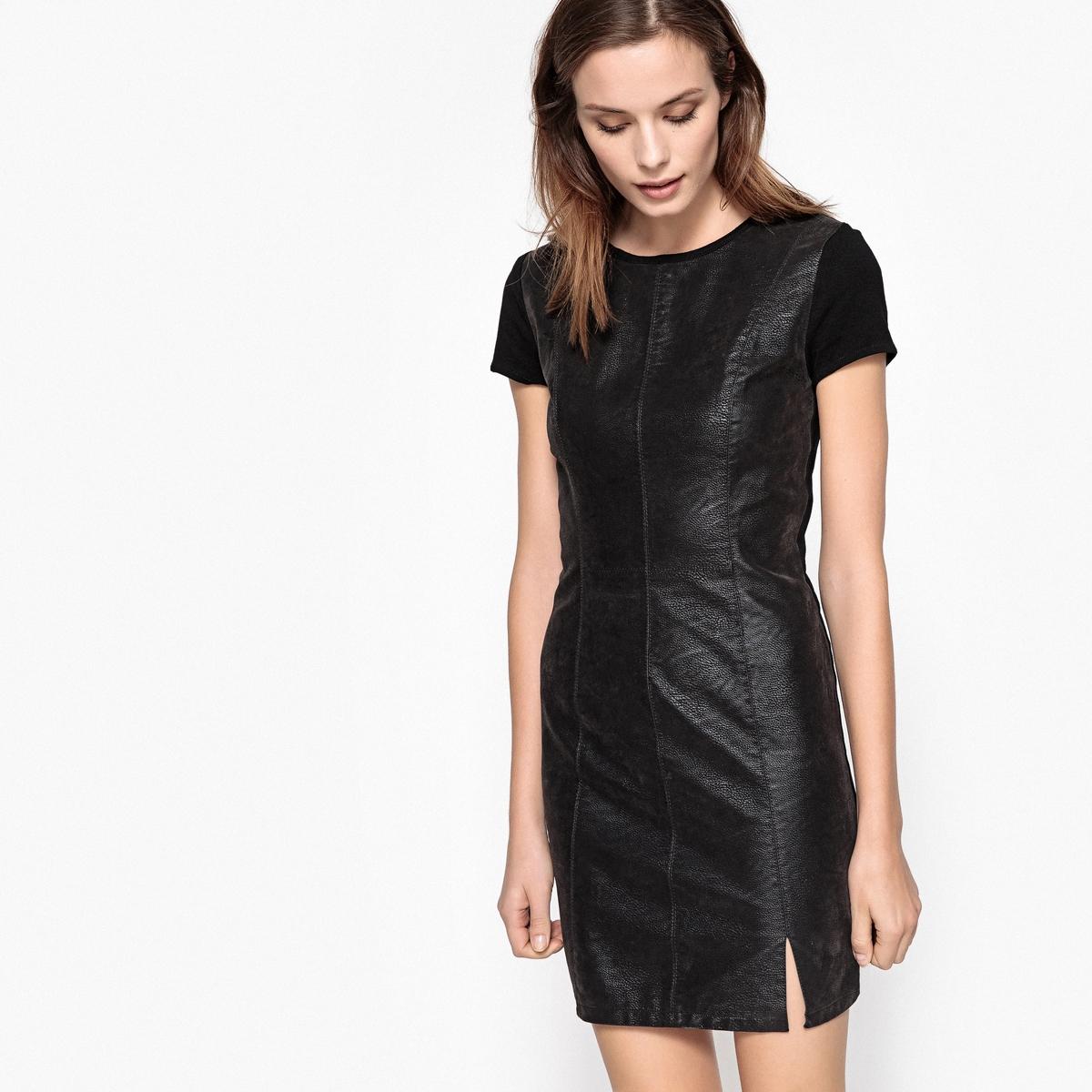 Платье облегающее, однотонное, до колен, с короткими рукавами платье облегающее короткое однотонное с длинными рукавами