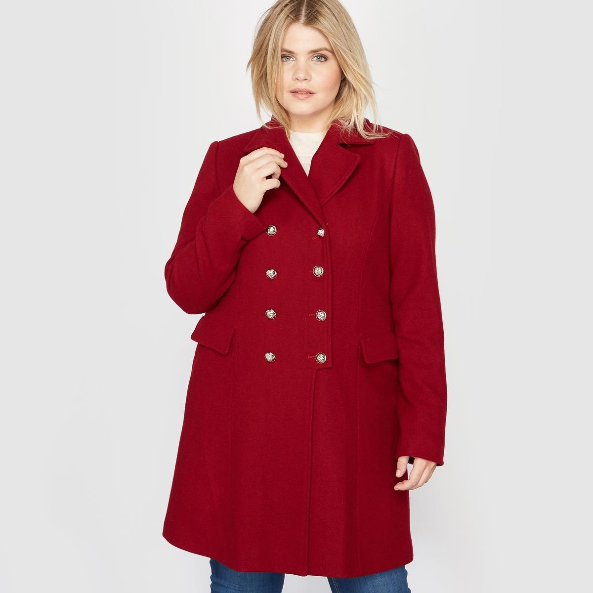 Пальто-шинель из шерстяного драпа пальто с капюшоном из шерстяного драпа