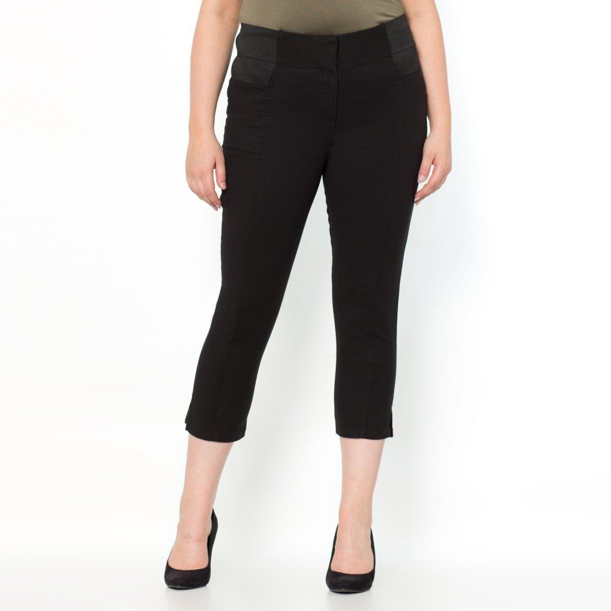 Брюки укороченныеТовар из коллекции больших размеров. Приятный материал, комфортный пояс… брюки, совершенствующие ваш силуэт! Еще более облегающий, комфортный и тянущийся материал, 97% хлопка и 3% эластана. Брюки не мнутся и прекрасно сидят. Высокий ультракомфортный пояс с 2 большими эластичными вставками по бокам моделирует силуэт и обеспечивает прекрасную посадку брюк. Застежка на молнию и крючок. Карманы спереди. Хитрость: швы спереди стройнят ноги! Длина по внутр.шву 60 см, ширина по низу 17 см. См.таблицу размеров Taillissime.<br><br>Цвет: синий морской,черный<br>Размер: 46 (FR) - 52 (RUS).48 (FR) - 54 (RUS).52 (FR) - 58 (RUS).44 (FR) - 50 (RUS).56 (FR) - 62 (RUS).54 (FR) - 60 (RUS).62 (FR) - 68 (RUS).46 (FR) - 52 (RUS).48 (FR) - 54 (RUS).50 (FR) - 56 (RUS).44 (FR) - 50 (RUS).58 (FR) - 64 (RUS).56 (FR) - 62 (RUS).60 (FR) - 66 (RUS)