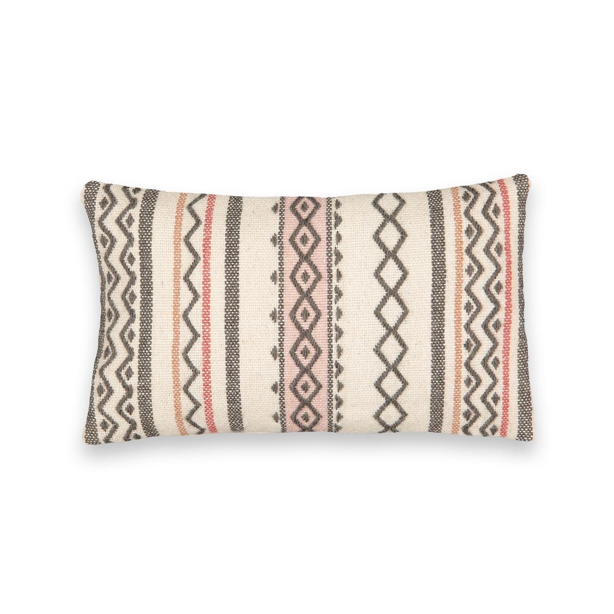 Чехол La Redoute На подушку-валик в берберском стиле Rubace 50 x 30 см бежевый наволочка la redoute flooch 50 x 30 см бежевый